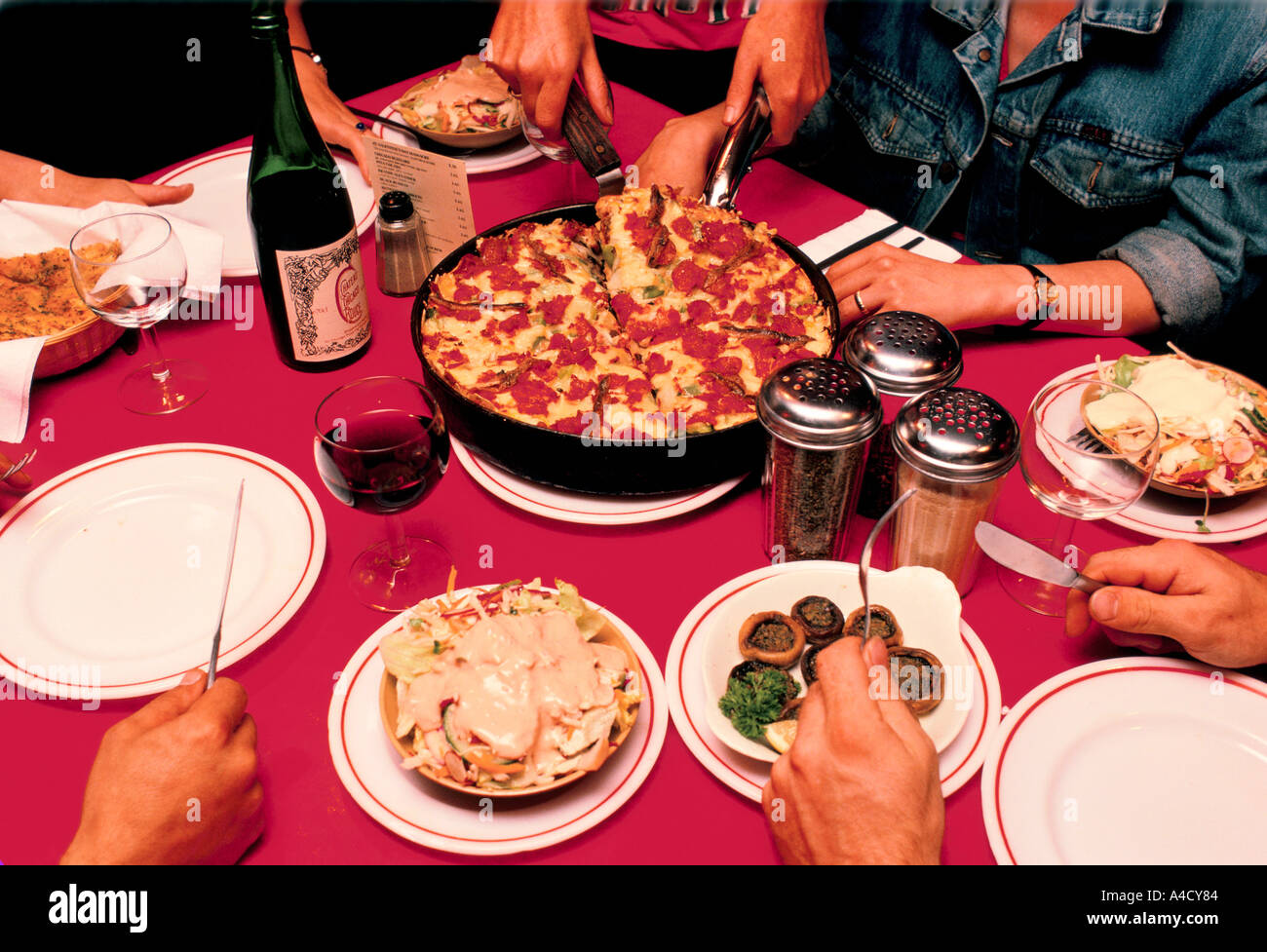 The Chicago Pizza Pie Factory London Uk Stock Photo