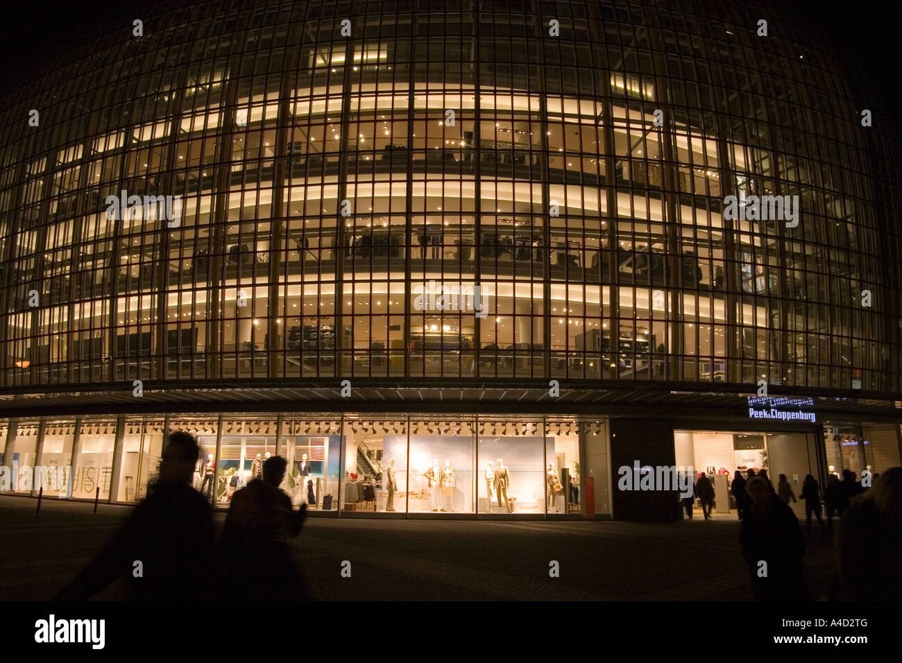 Peek and Cloppenberg Department Store at Night Cologne Germany Stock Photo