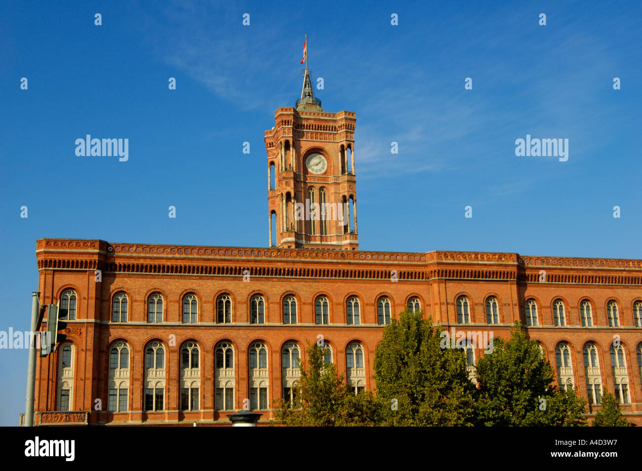 Rotes Rathaus Red Townhall Berlin Germany - Stock Image