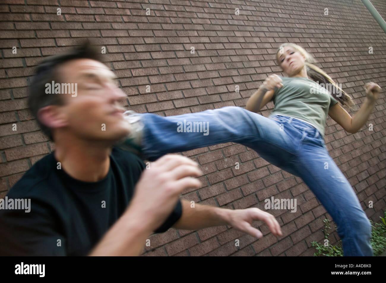 Female Self Defense Stock Photo  6293295
