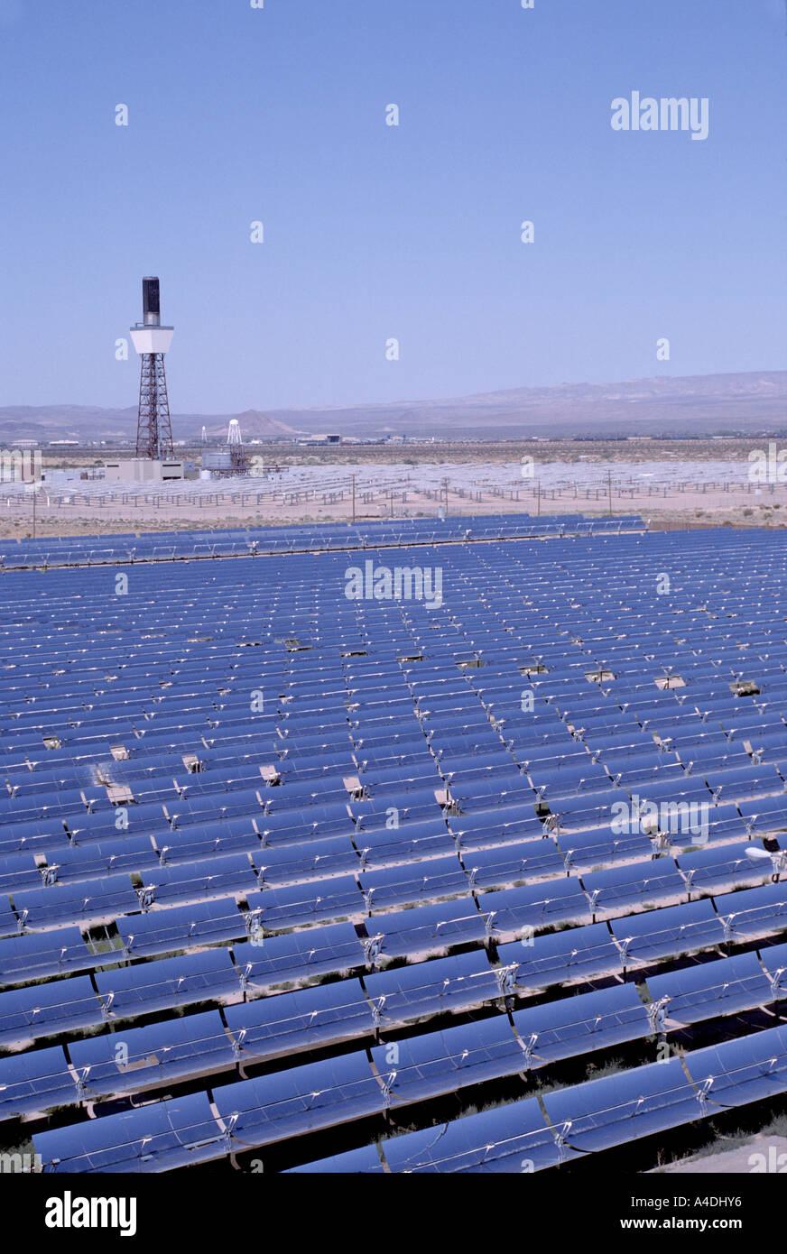 Eco friendly solar energy field with parabolic reflectors heat oil