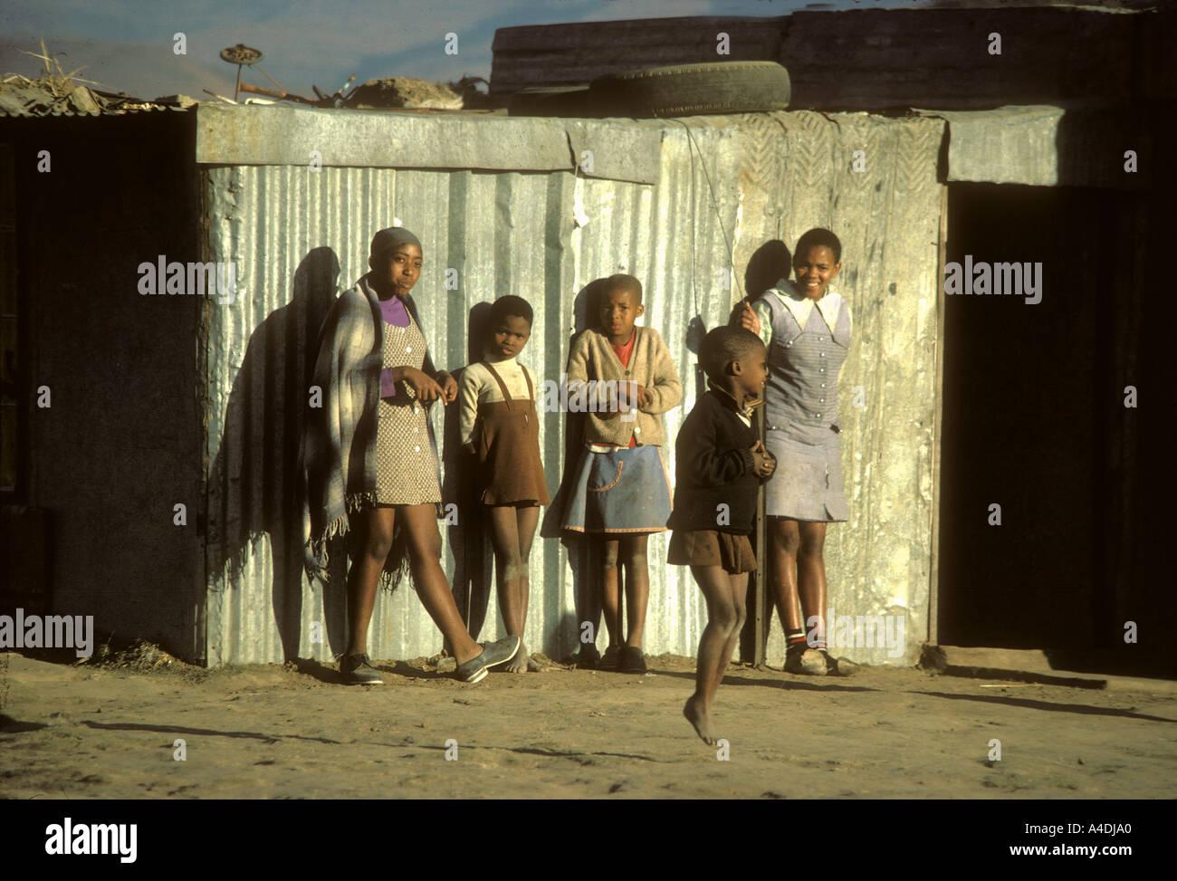 Children. Qwa Qwa homelands, South Africa, 1980 - Stock Image