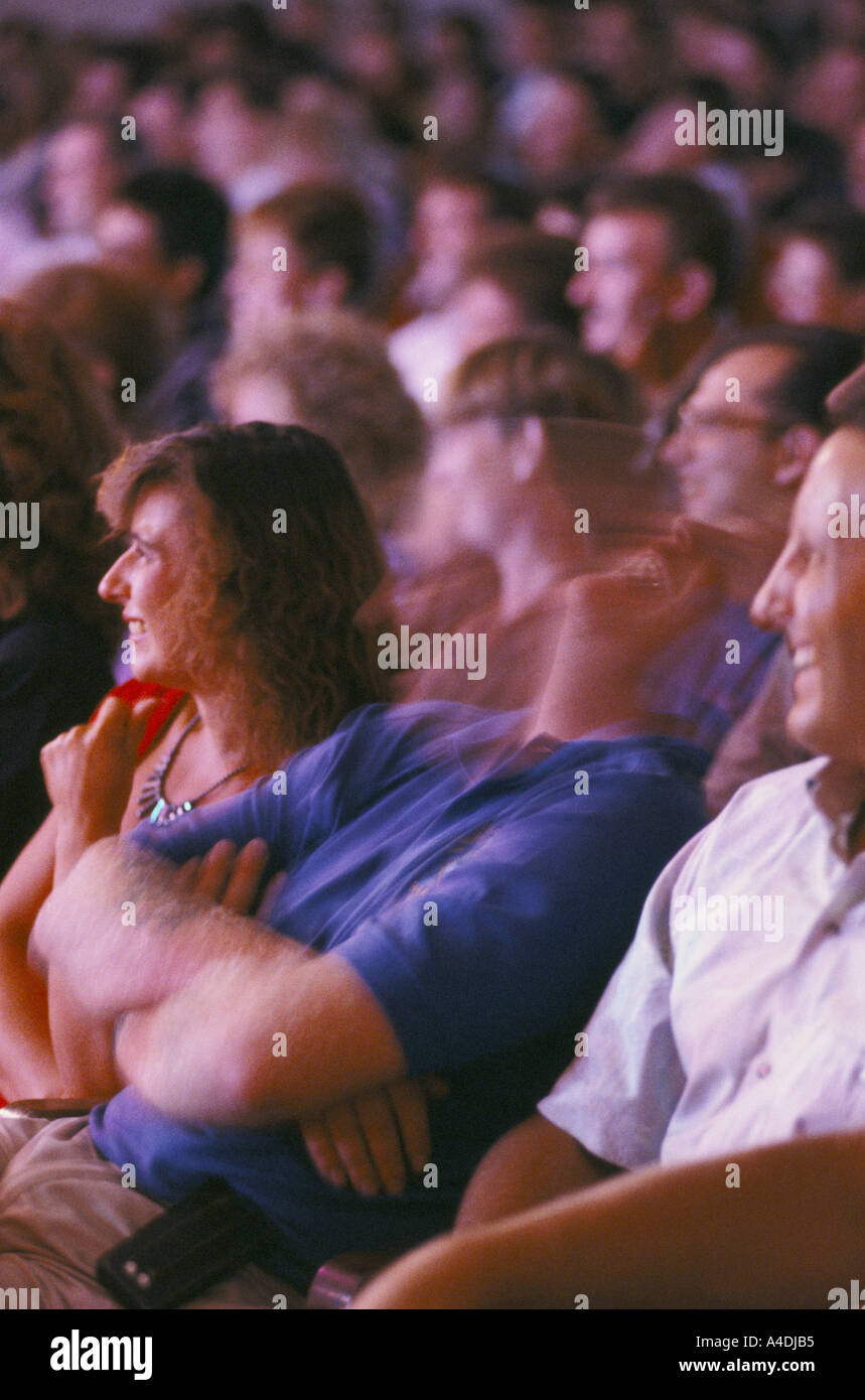Audience laughing - Stock Image