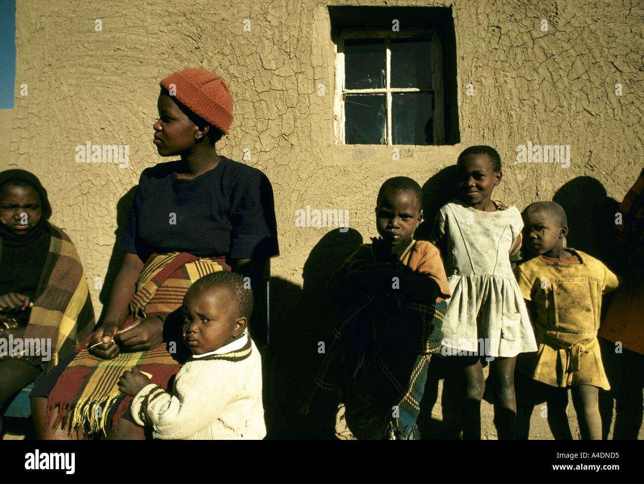 Qwa Qwa homeland, South Africa - Stock Image