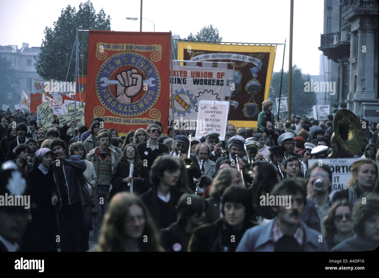 A Trade Union Congress pro-abortion  demonstration, London, UK - Stock Image