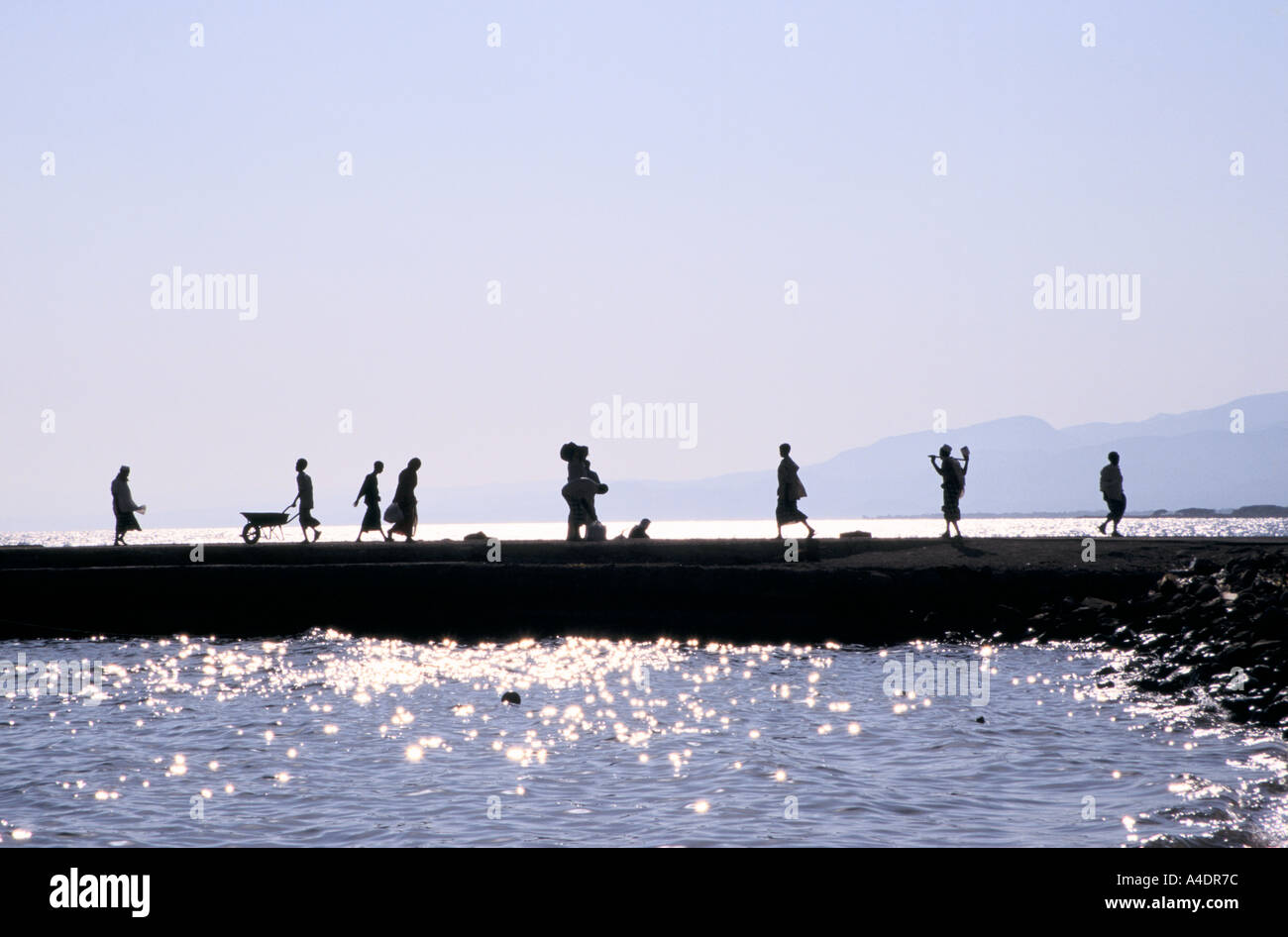 Waterfront, Tadjoura Djibouti - Stock Image