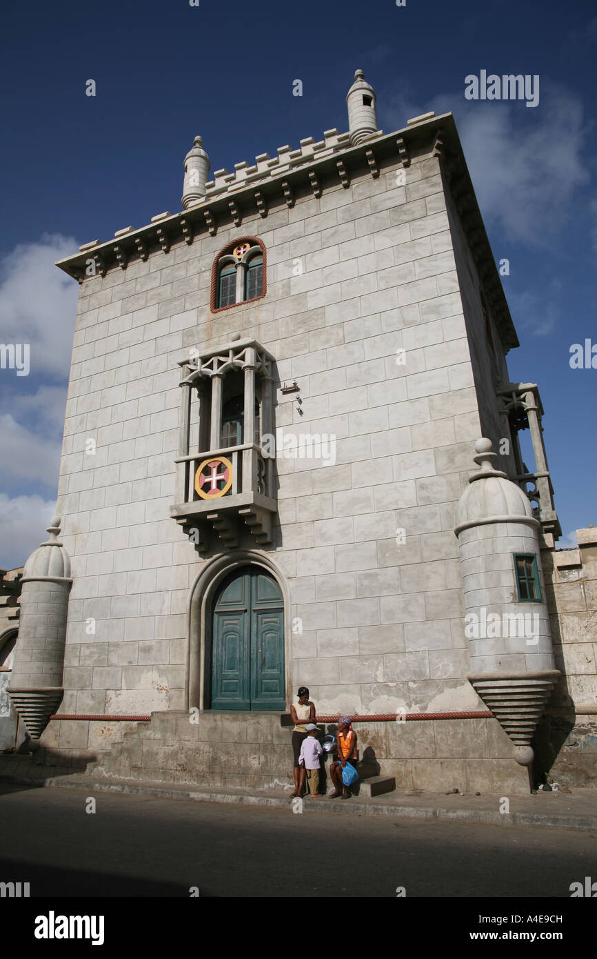 The Torre de Belem tower Mindelo, Sao Vicente ( Tower of Belem ) - Stock Image
