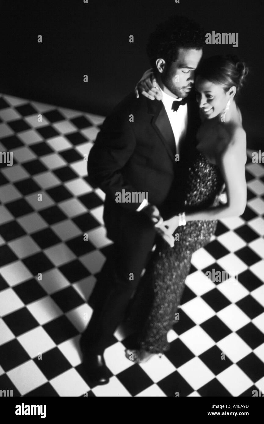 Africam American Couple Dancing - Stock Image