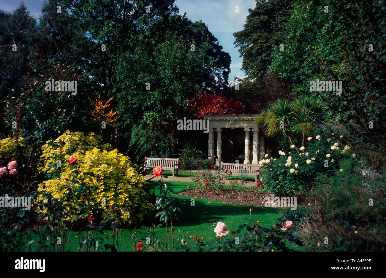 walled garden, sunbury park, middlesex, west london, uk stock photo