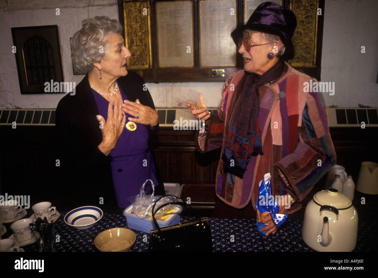 Tea Ladies After Church Service At The Church Of St Mary The Virgin Rye  Sussex HOMER