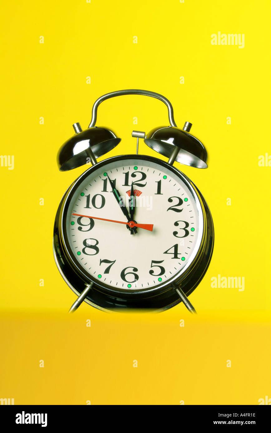 Bell clock Wecker - Stock Image