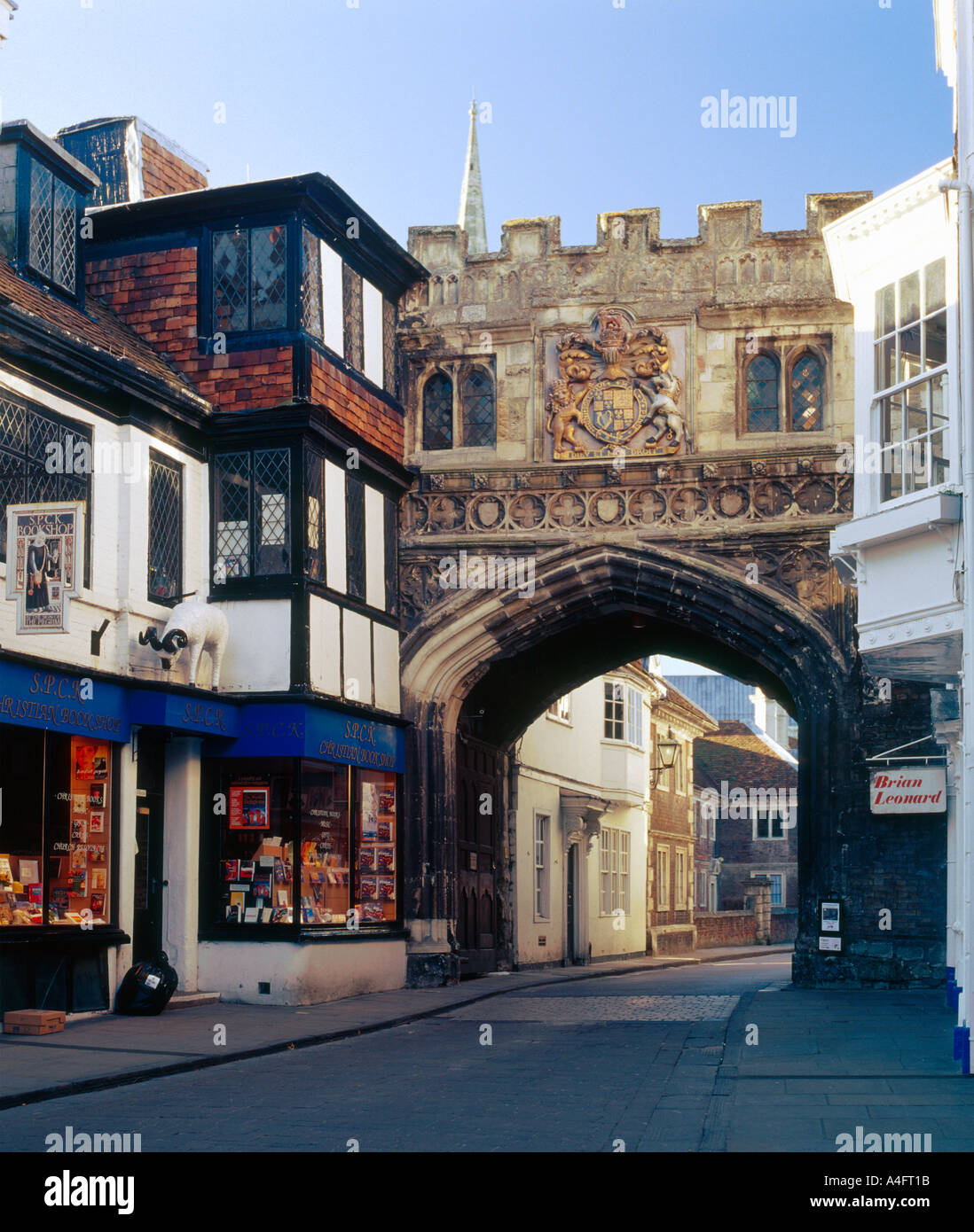 The North Gate to the Cathedral Close also known as the High Street Gate, Salisbury Wiltshire England - Stock Image