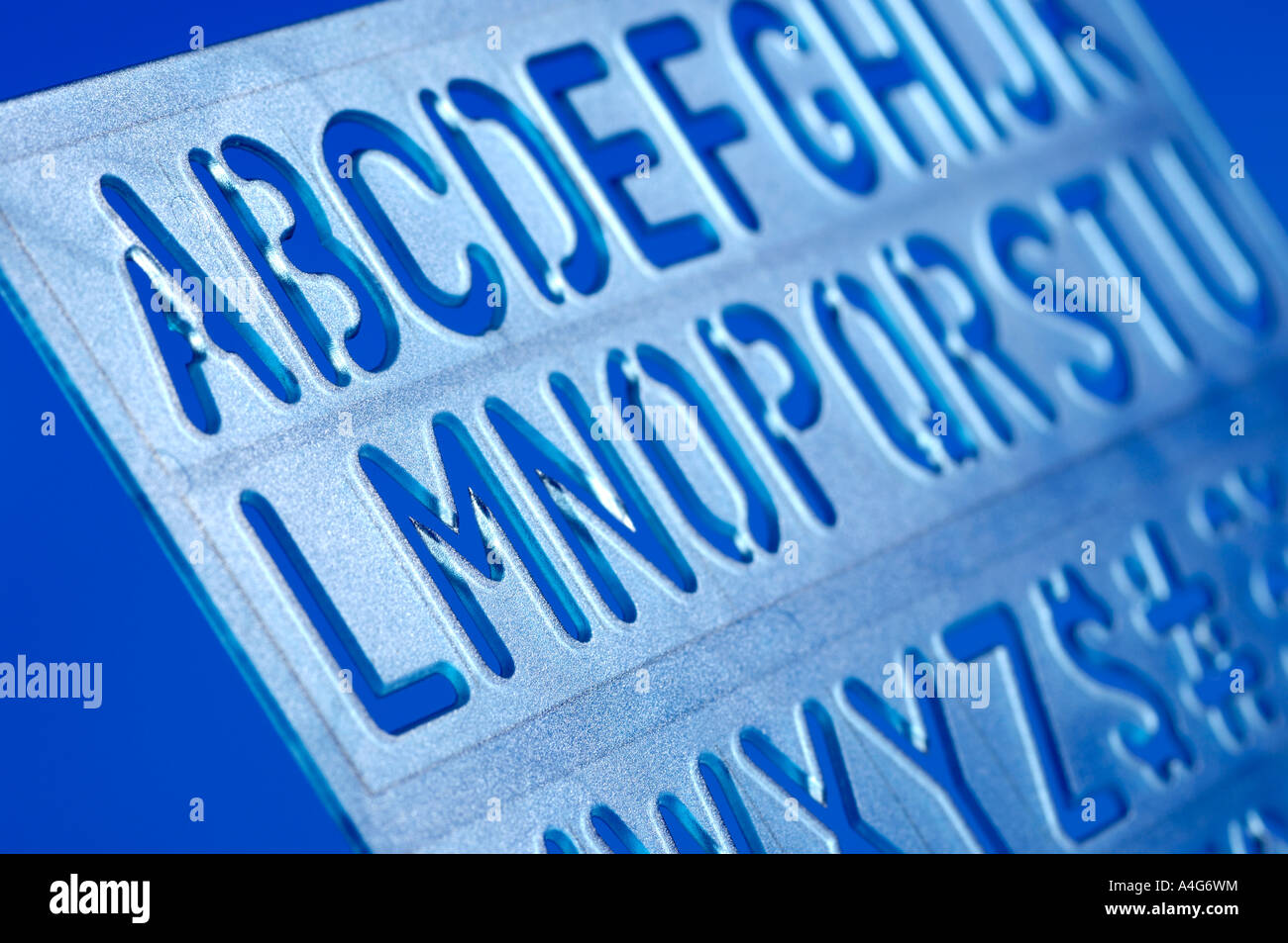 Alphabet stencil - Stock Image