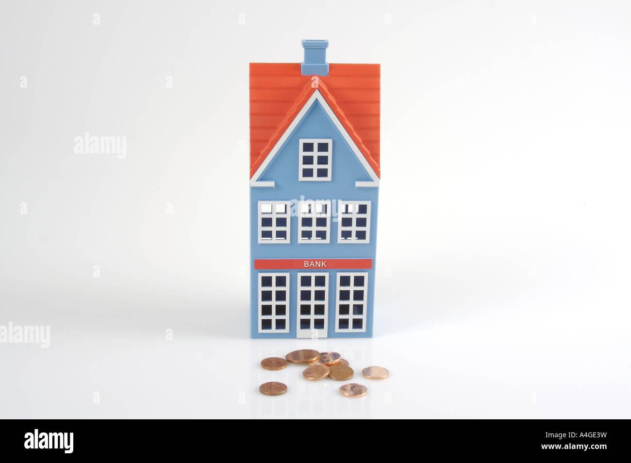 Savings box piggybank - Stock Image