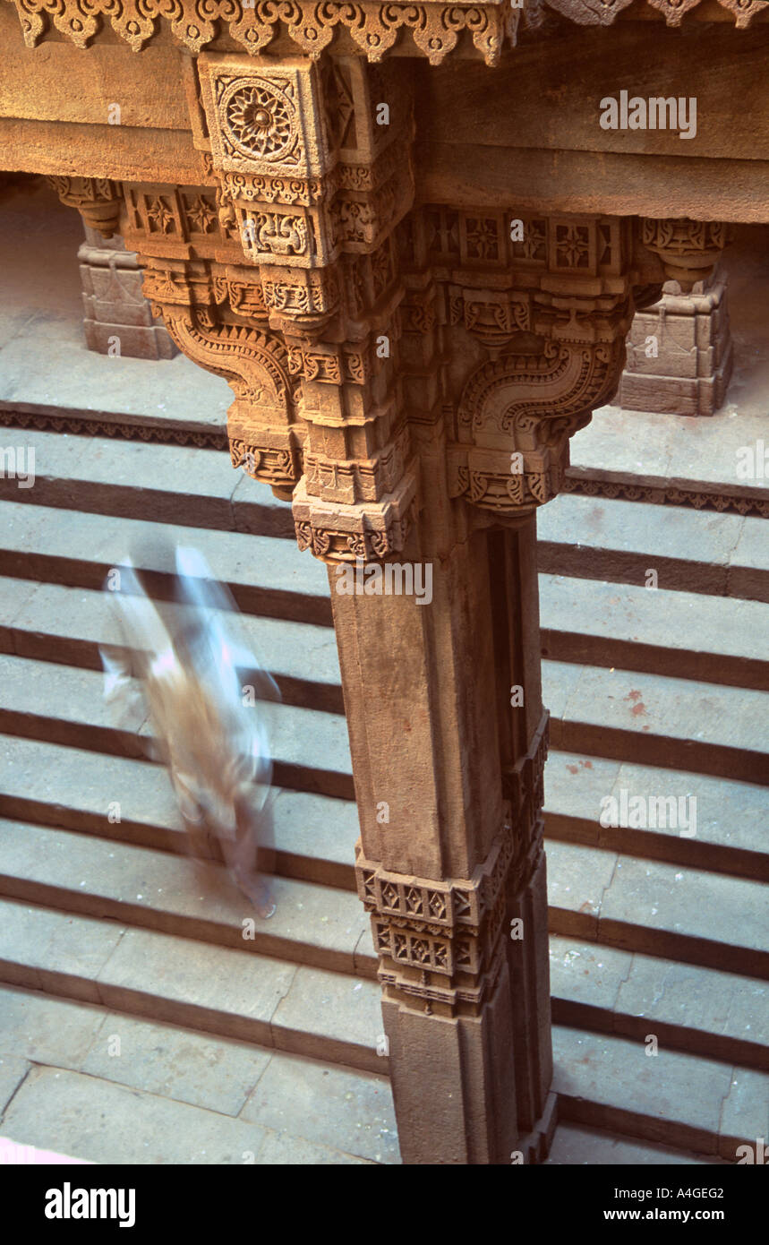 Adalaj Vav step well outside of Ahmedabad in the state of Gujarat, India. - Stock Image