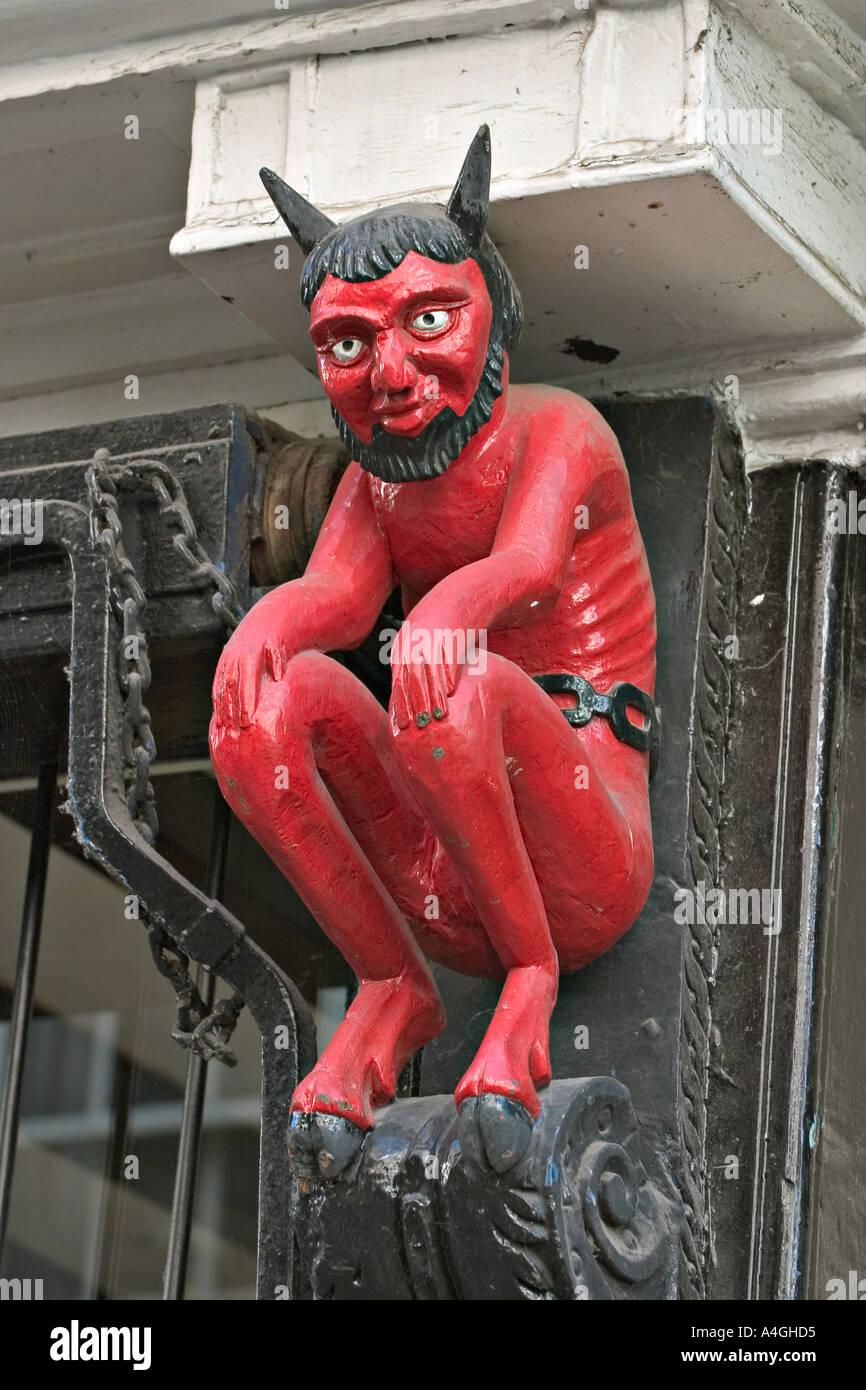 York England UK Printers Devil in Stonegate - Stock Image