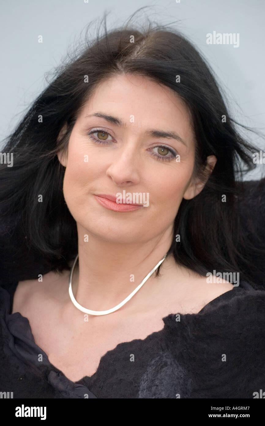 Irish Woman With Black Hair And Green Eyes Wearing Black Shawl Or