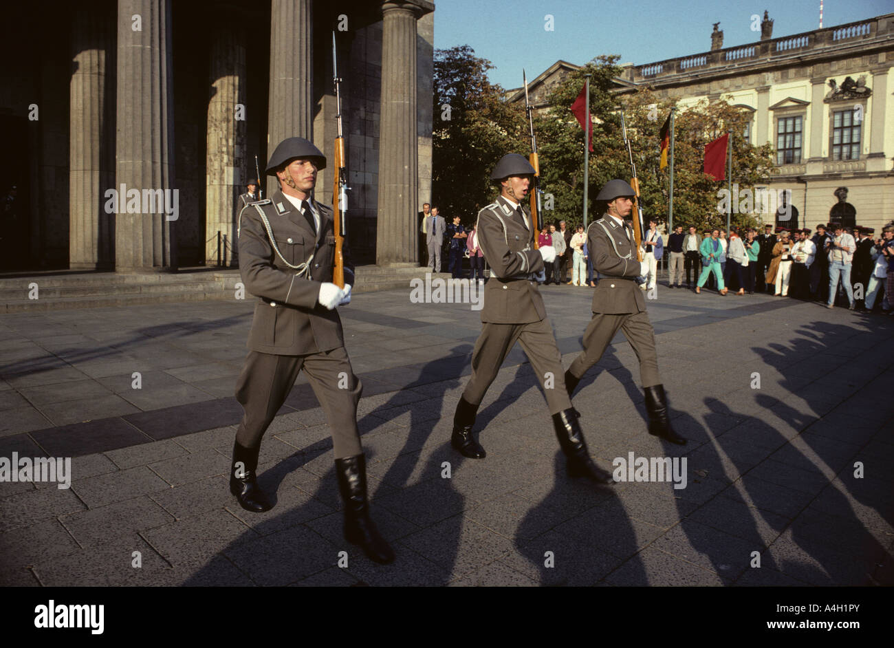 Changing of the guard of the National People's Army, Zeughaus, East Berlin, GDR, Germany - Stock Image