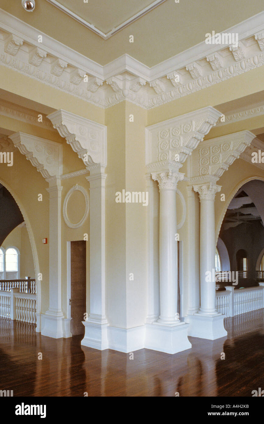 Newly restored ballroom in the Lightner Museum Building formerly the Hotel Alcazar in St Augustine Florida USA Stock Photo