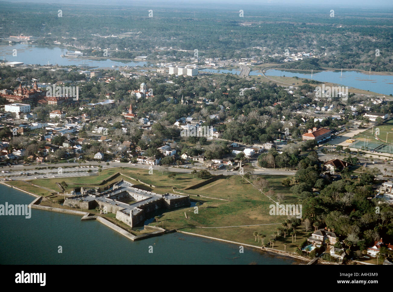Aerial View Of St Augustine Florida Usa Stock Photo