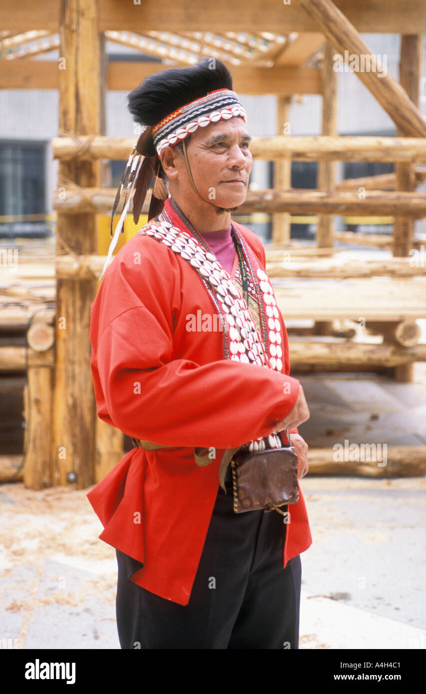 Taiwan Tsou Tribe Aboriginal Chief Republic of China - Stock Image