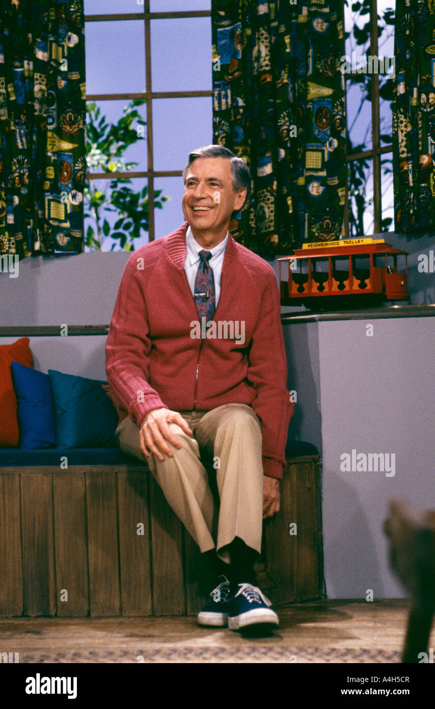 Fred Rogers Of Public Television Mister Rogers Neighborhood Stock Photo Alamy