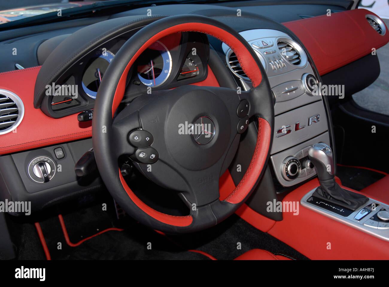 mclaren mercedes slr car interior stock photo: 11051909 - alamy