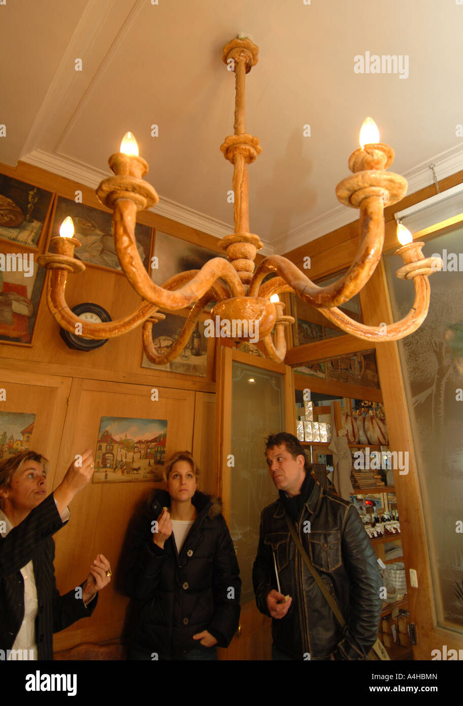 Chandelier made from bread in the poilane bakery bread shop paris chandelier made from bread in the poilane bakery bread shop paris france aloadofball Images
