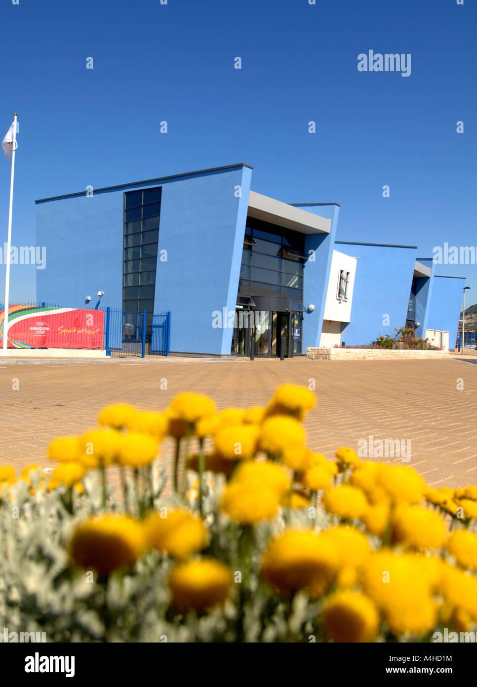 Portland Sailing Academy, Weymouth and Portland Sailing Academy, Portland Dorset Britain UK, location for 2012 Olympic - Stock Image