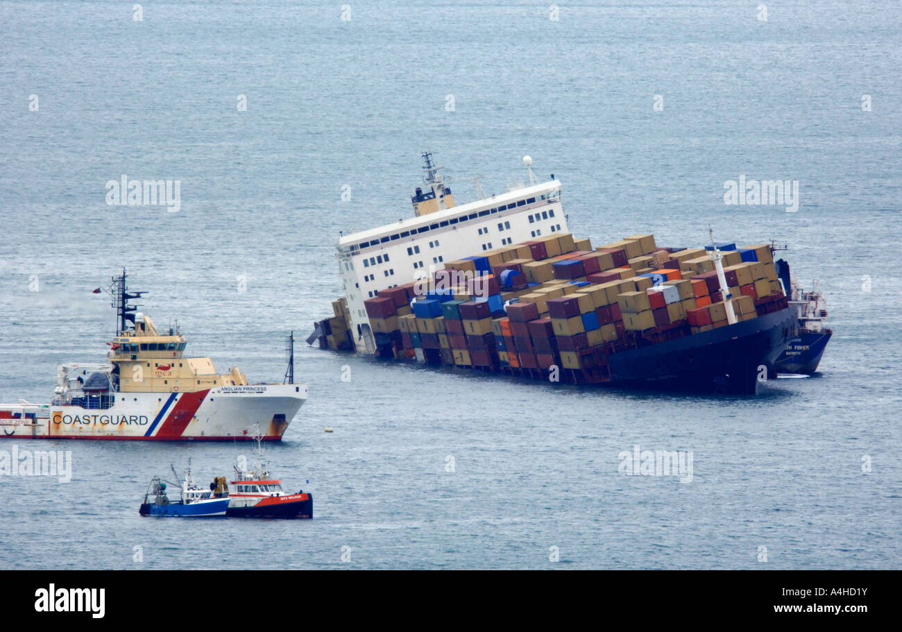 Sinking Cargo Ship Stock Photos & Sinking Cargo Ship Stock