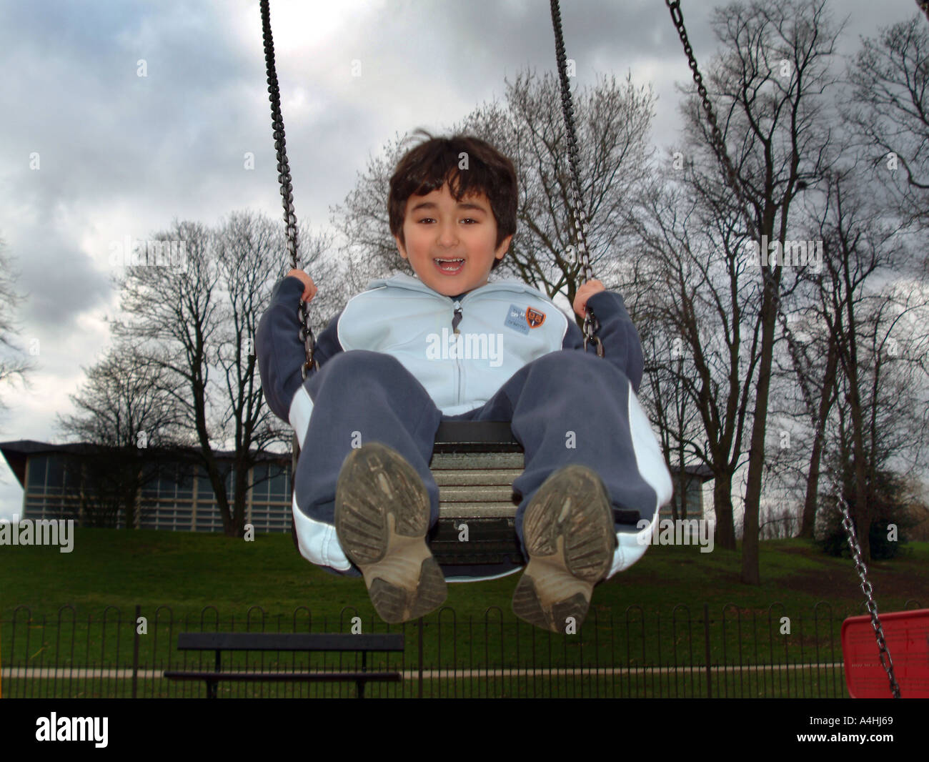 PUPIL SWINGING - Stock Image
