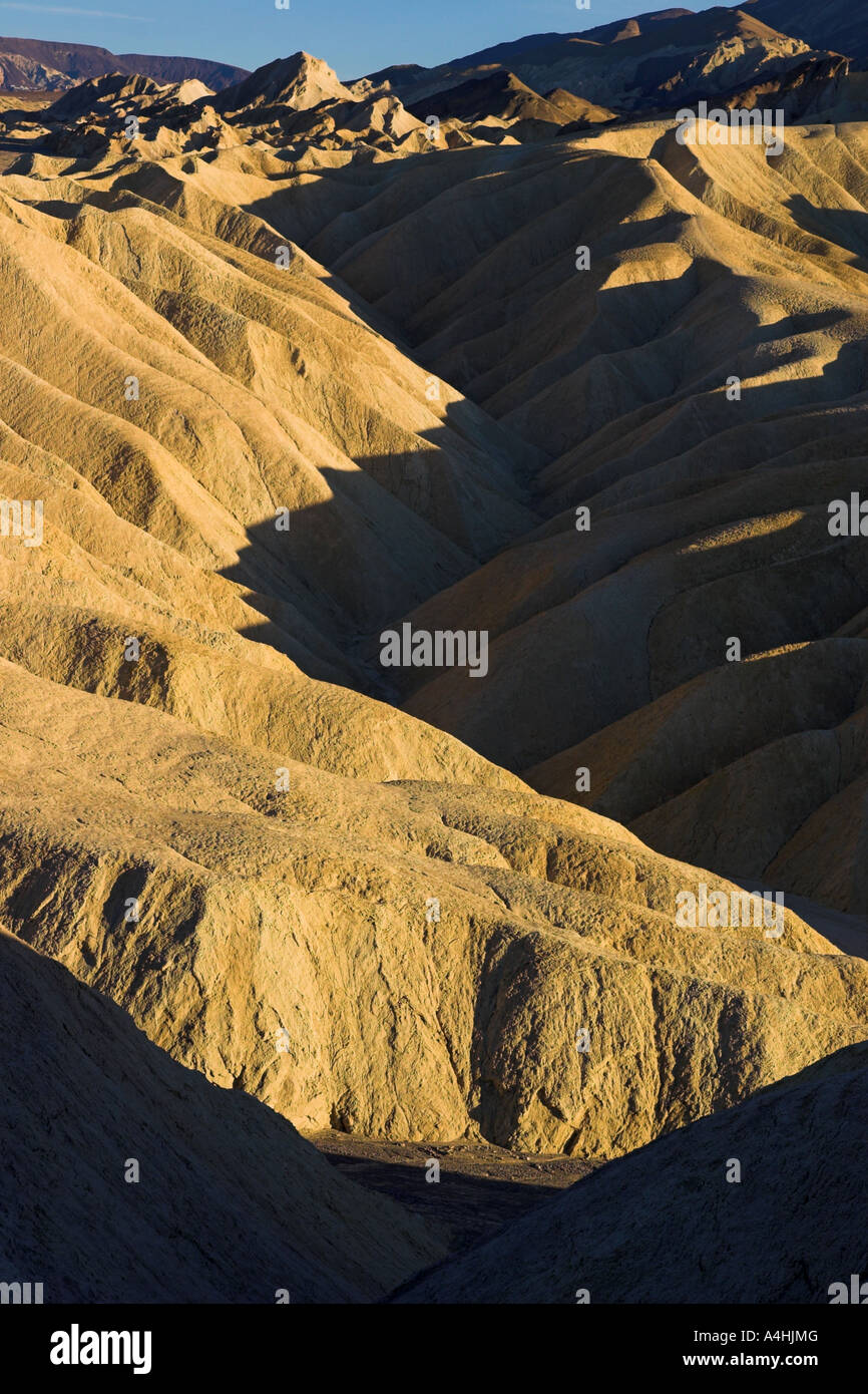 Zabriskie Point At Dusk, Death Valley National Park, USA - Stock Image