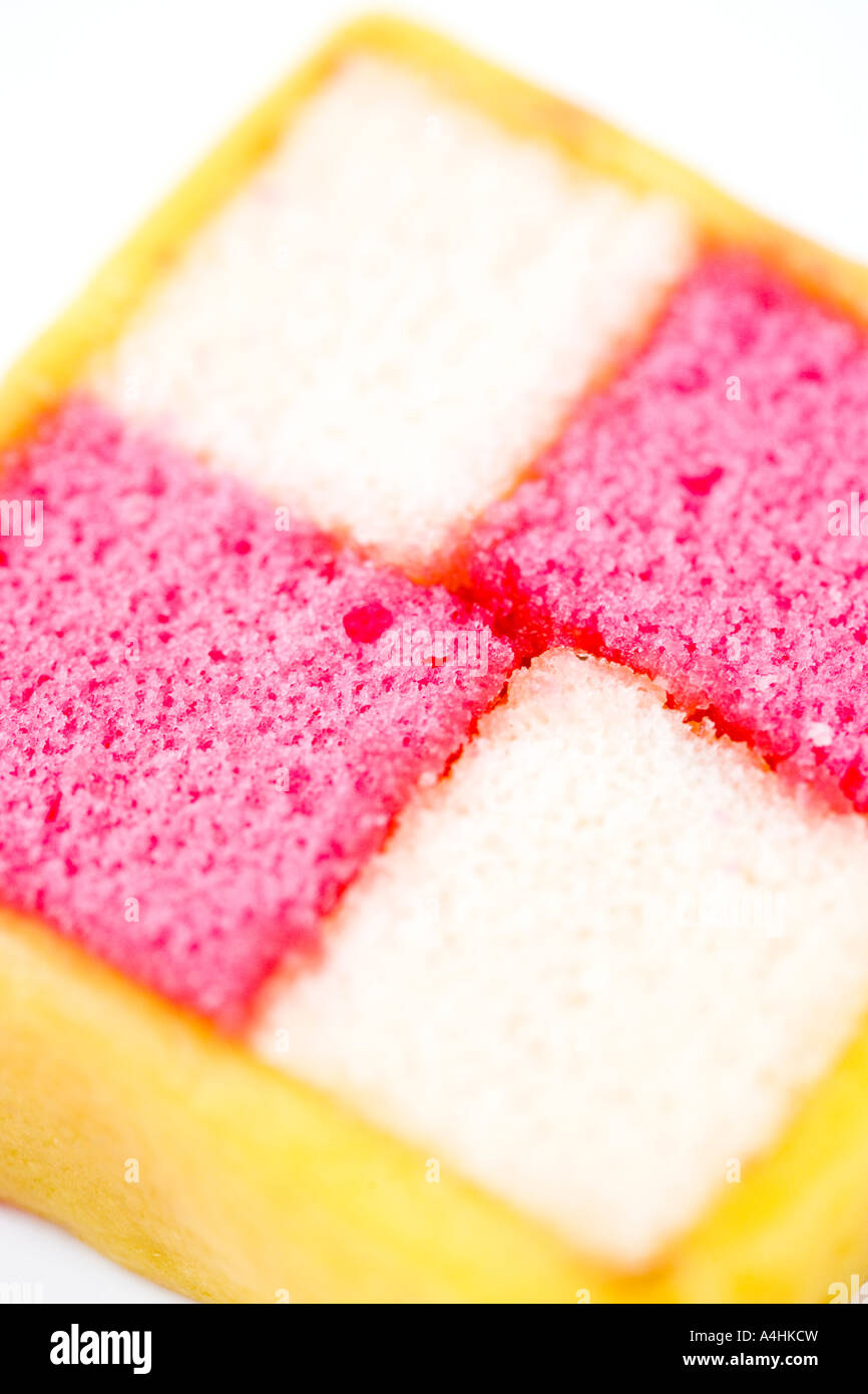 Cake - Battenburg - Stock Image