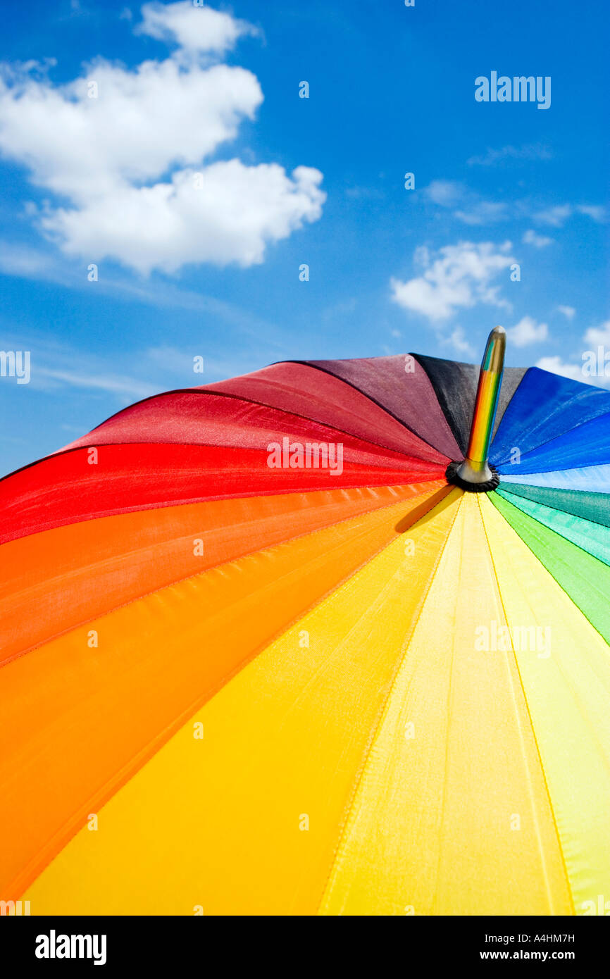 Colourful umbrella - Stock Image