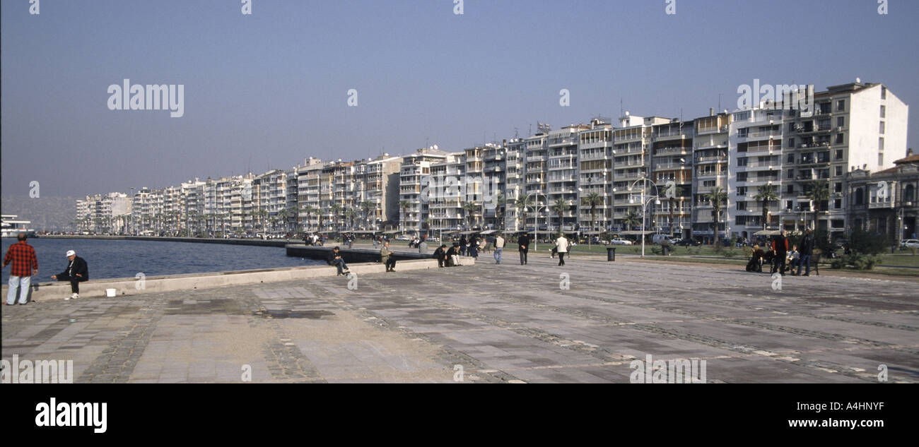 City opinion from the port, Izmir, Tuerkey. - Stock Image