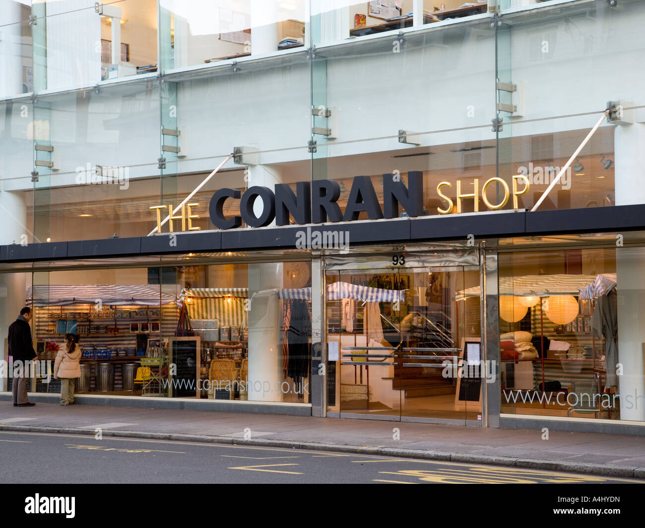 the conran shop entrance stock photo 11057360 alamy. Black Bedroom Furniture Sets. Home Design Ideas