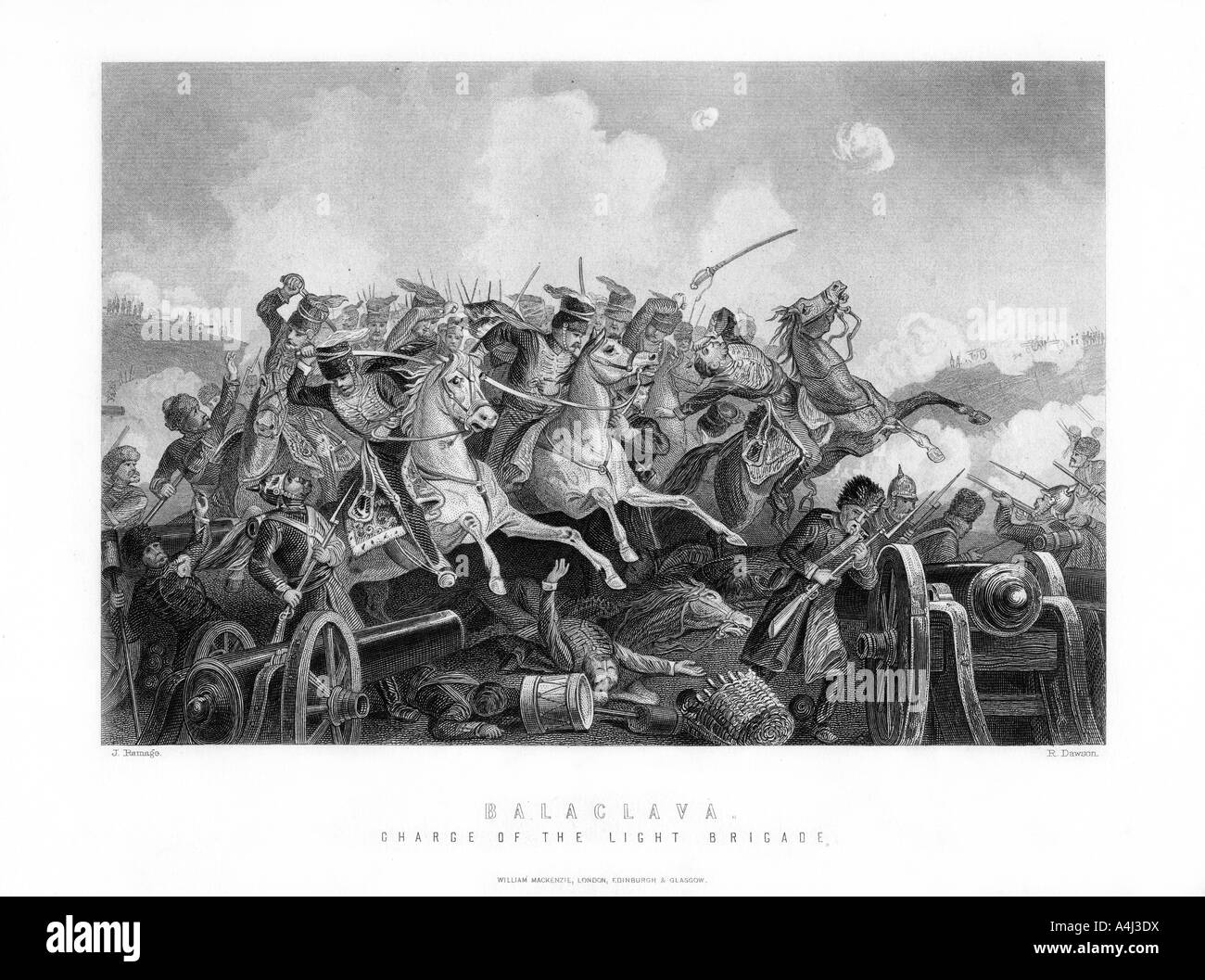 The Charge of the Light Brigade Battle of Balaclava Crimean War October 25 1854 1893  - Stock Image