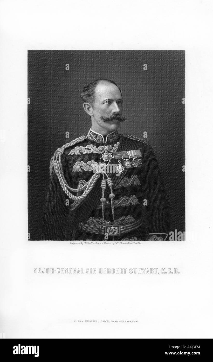 Sir Herbert Stewart, British soldier, (1893).Artist: W Roffe - Stock Image