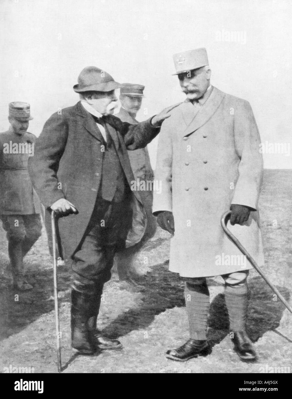 General Philippe Petain and Georges Clemenceau 1926  - Stock Image