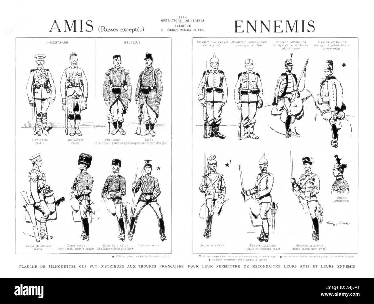 Friends and Enemies 1914  - Stock Image