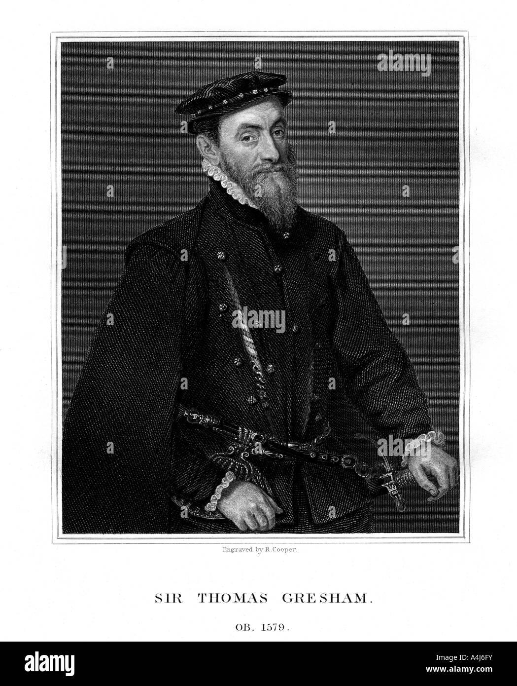 Sir Thomas Gresham English merchant and financier 1823  - Stock Image