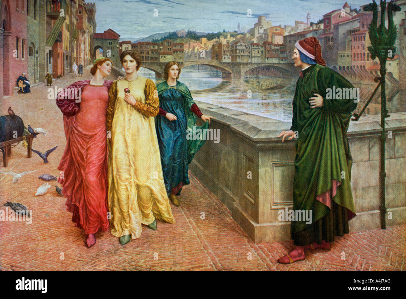 Dante and Beatrice 1883 1912  - Stock Image