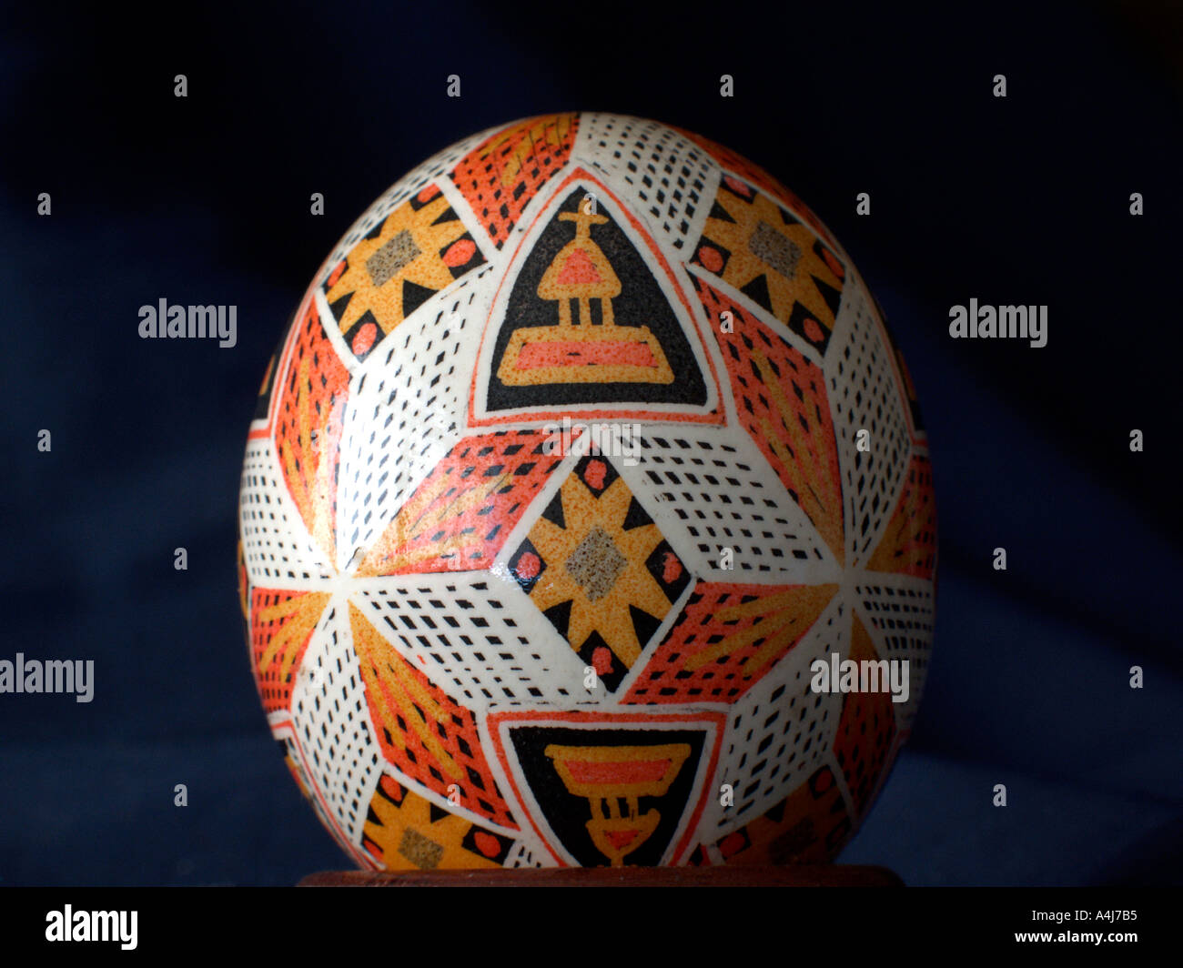 Pysanka a Hand Painted Easter Egg Stock Photo