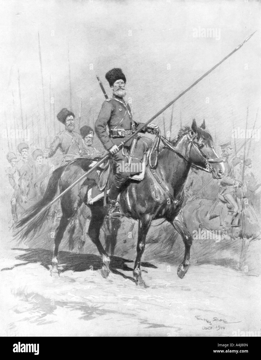 Cossack Cavalry 1914 1926  Stock Photo