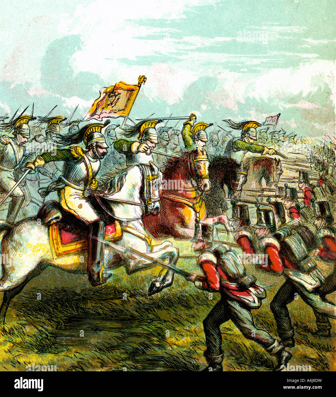 'The Battle of Waterloo, 1815', (c1850s). Artist: Unknown - Stock Image