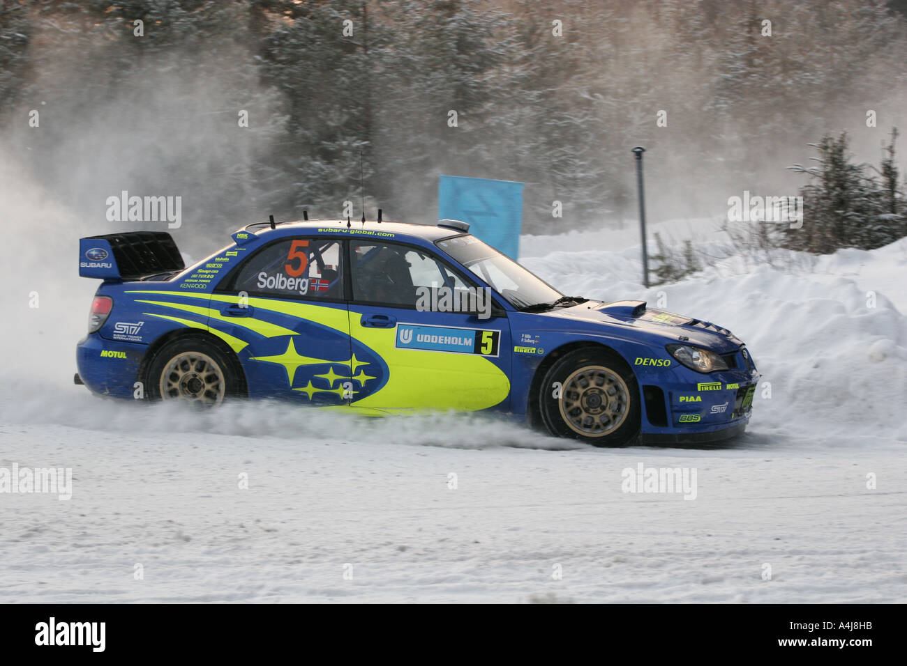 petter solberg driving his subaru impreza sti wrc during the rammen stock photo 6320154 alamy. Black Bedroom Furniture Sets. Home Design Ideas