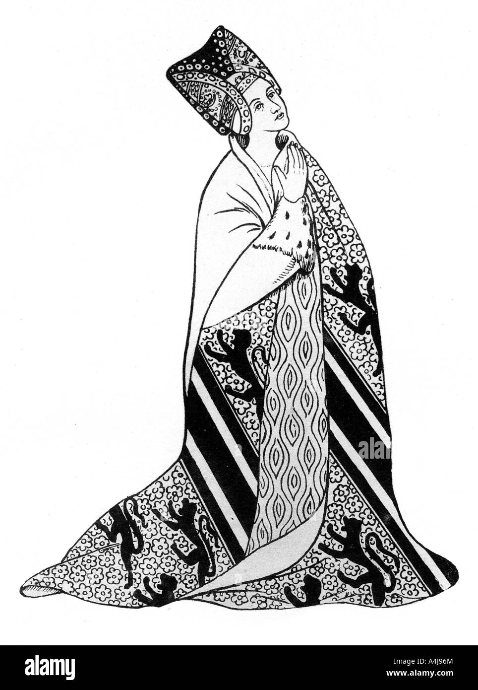 Lady Arderne wife of Sir Peter Arderne Judge and Chief Baron of the Exchequer 1924  - Stock Image