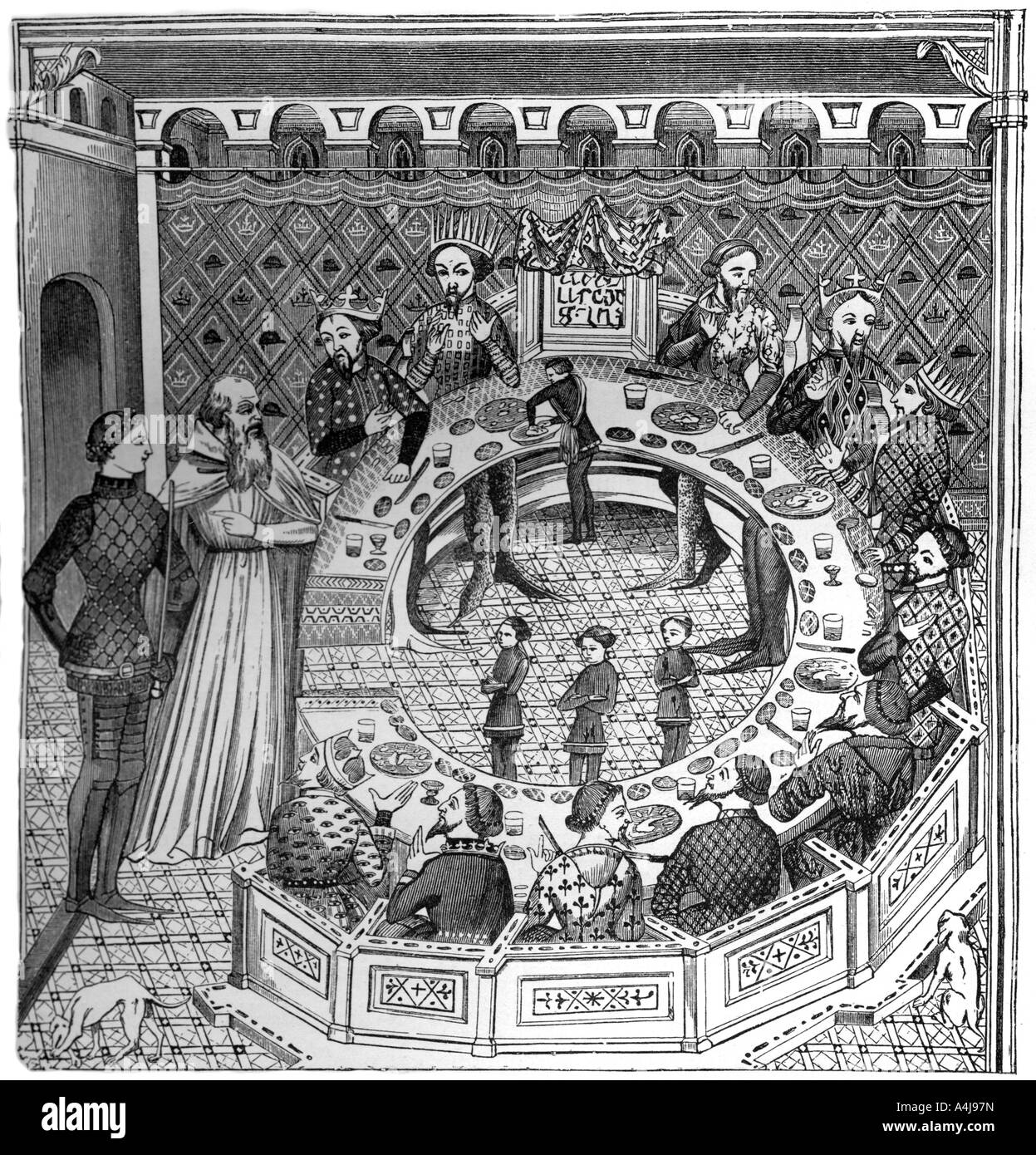 The round table of King Artus of Brittany 14th century 1870