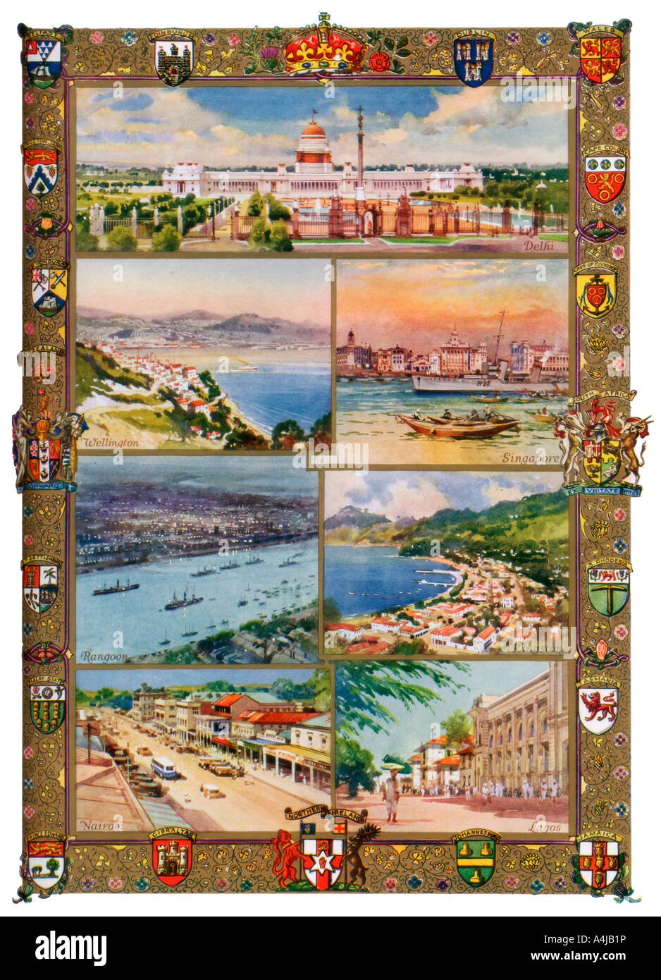 Capitals of the British Empire, 1937. Artist: Charles E Turner - Stock Image