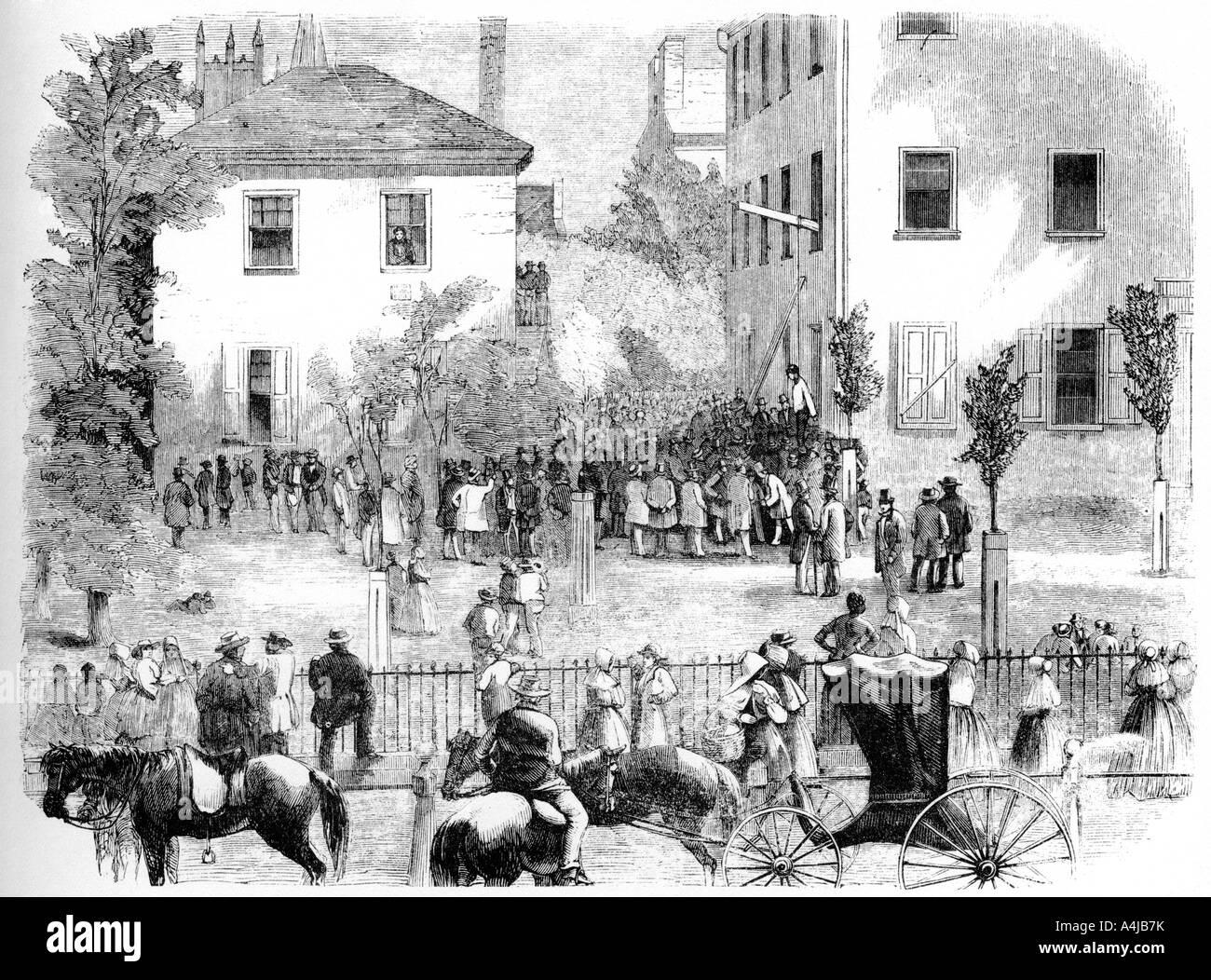 The Kentucky Lynching c1860  - Stock Image